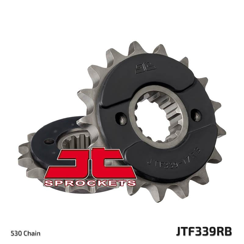 JTF339 Rubber Cushioned Front Drive Motorcycle Sprocket 17 Teeth (JTF 339.17 RB)