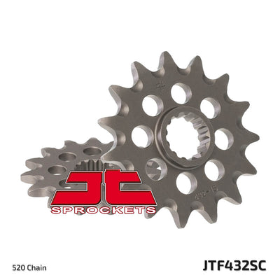 Front Motorcycle Sprocket for Suzuki_DR-Z250_01-07, Suzuki_DR250 L Off Road_90-93, Suzuki_DR250 S-L M N P_90-93, Suzuki_GSF250_95, Suzuki_RM250 H J_87-88, Suzuki_RM250 W_98, Suzuki_RM250 X_99, Suzuki_RM250_00-03, Suzuki_RM250_04-11, Suzuki_RM250_12, Suzuki_RM250_89-97, Suzuki_RMX250_89-01, Suzuki_TSX250 LC TS250X_85-90