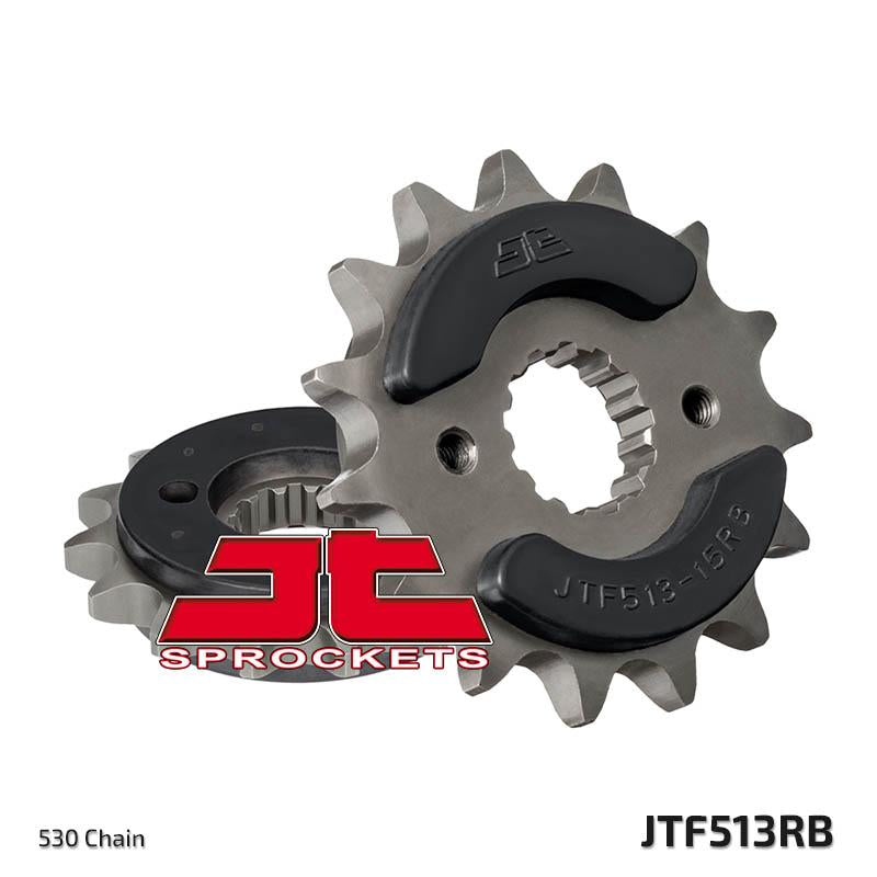 JTF513 Rubber Cushioned Front Drive Motorcycle Sprocket 15 Teeth (JTF 513.15 RB)