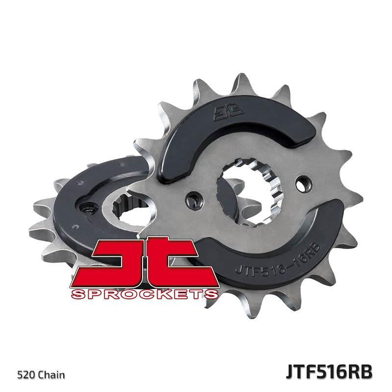JTF516 Rubber Cushioned Front Drive Motorcycle Sprocket 16 Teeth (JTF 516.16 RB)