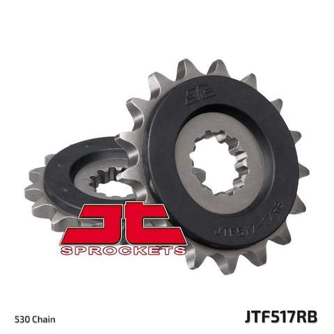 JTF517 Rubber Cushioned Front Drive Motorcycle Sprocket 17 Teeth (JTF 517.17 RB)