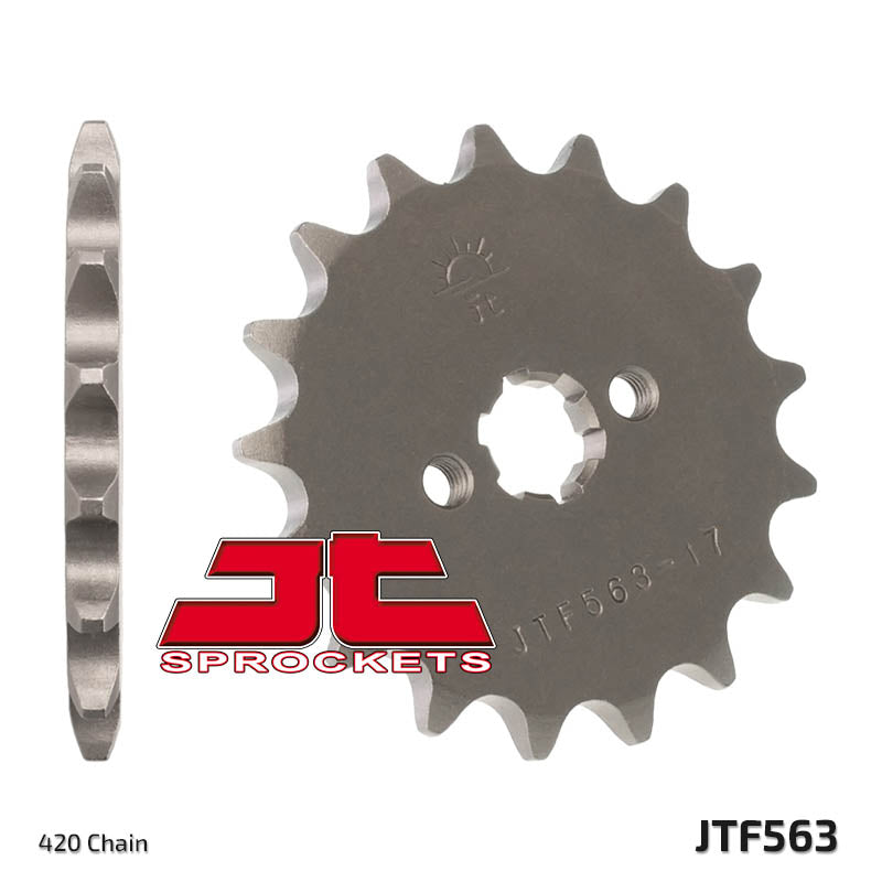 Front Motorcycle Sprocket for Suzuki_LT A-50 K1_01, Suzuki_LT50_84-87, Suzuki_LT50_97-00, Suzuki_ZR50 SK_84-88, Yamaha_DT50 M_78-80, Yamaha_DT50 MX-S_88-95, Yamaha_DT50 MX_81-87, Yamaha_RD50 M Alloy Wheel_79-80, Yamaha_TY50 M_78-81