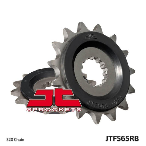 JTF565 Rubber Cushioned Front Drive Motorcycle Sprocket 15 Teeth (JTF 565.15 RB)