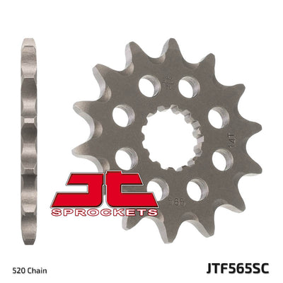 JTF565 Front Drive Motorcycle Sprocket Self Cleaning 13 Teeth (JTF 565.13)