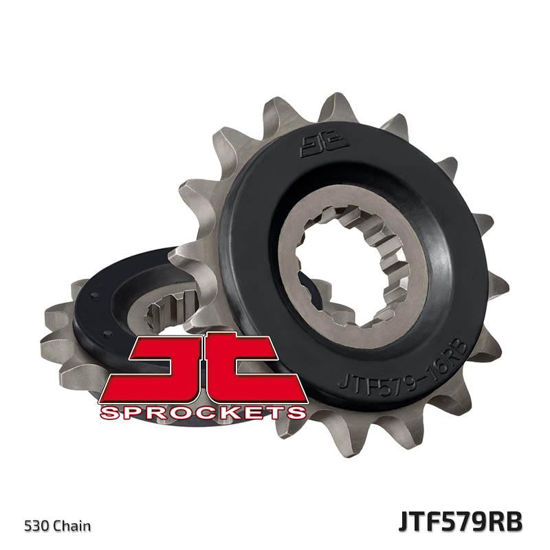 JTF579 Rubber Cushioned Front Drive Motorcycle Sprocket 17 Teeth (JTF 579.17 RB)