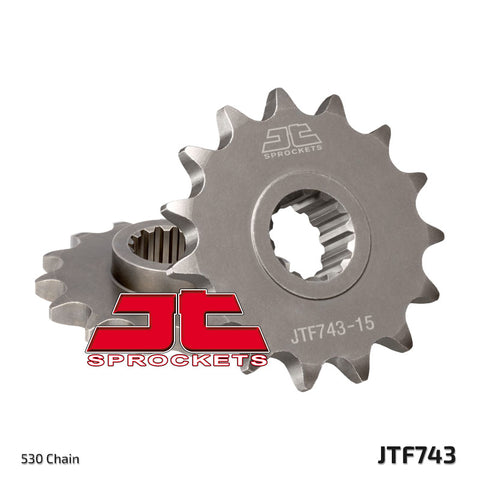 JTF743 Front Drive Motorcycle Sprocket 15 Teeth (JTF 743.15)