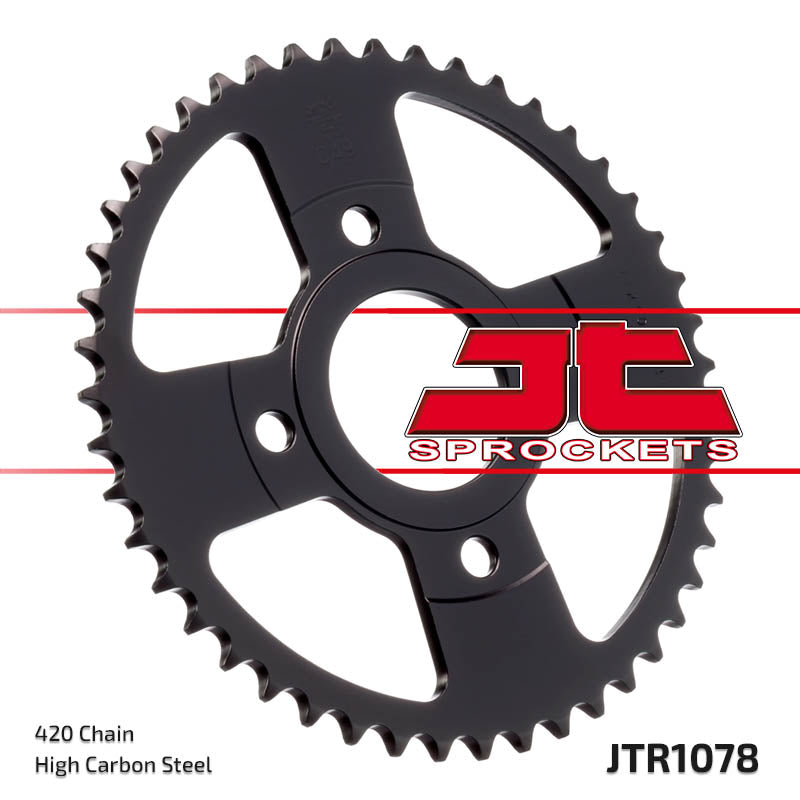 Rear Motorcycle Sprocket for MBK_50 X-Power_00-02, MBK_50 X-Power_03-06, Yamaha_TZR50 RR_97-06, Yamaha_TZR50 X-Power_96-06