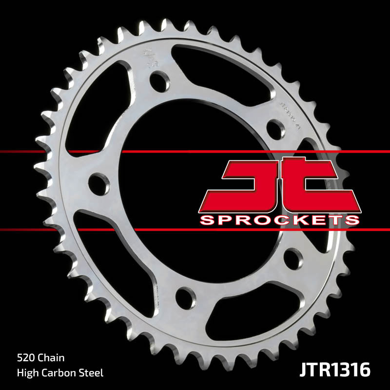 JTR1316 Rear Drive Motorcycle Sprocket 43 Teeth (JTR 1316.43)