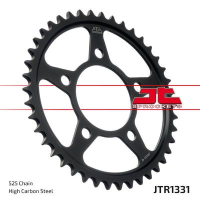 JTR1331 Black Edition Induction Hardened ZBK Motorcycle Sprocket 42 Teeth (JTR 1331.42)