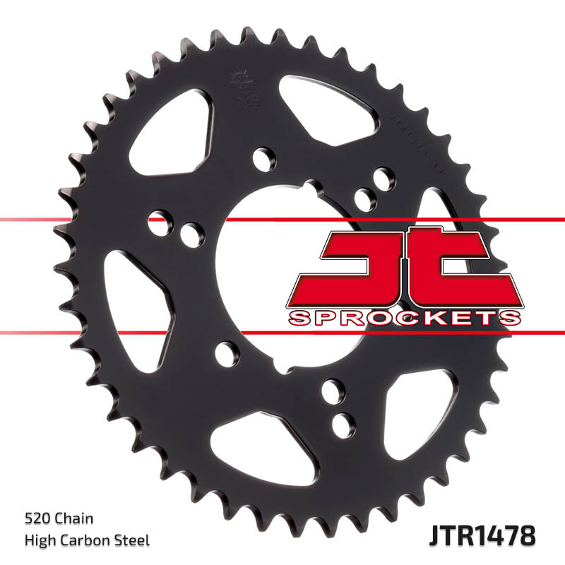 Rear Motorcycle Sprocket for Kawasaki_GPZ400_84-87, Kawasaki_GPZ550 Unitrack_84-92, Kawasaki_ZX400 C2_84-87