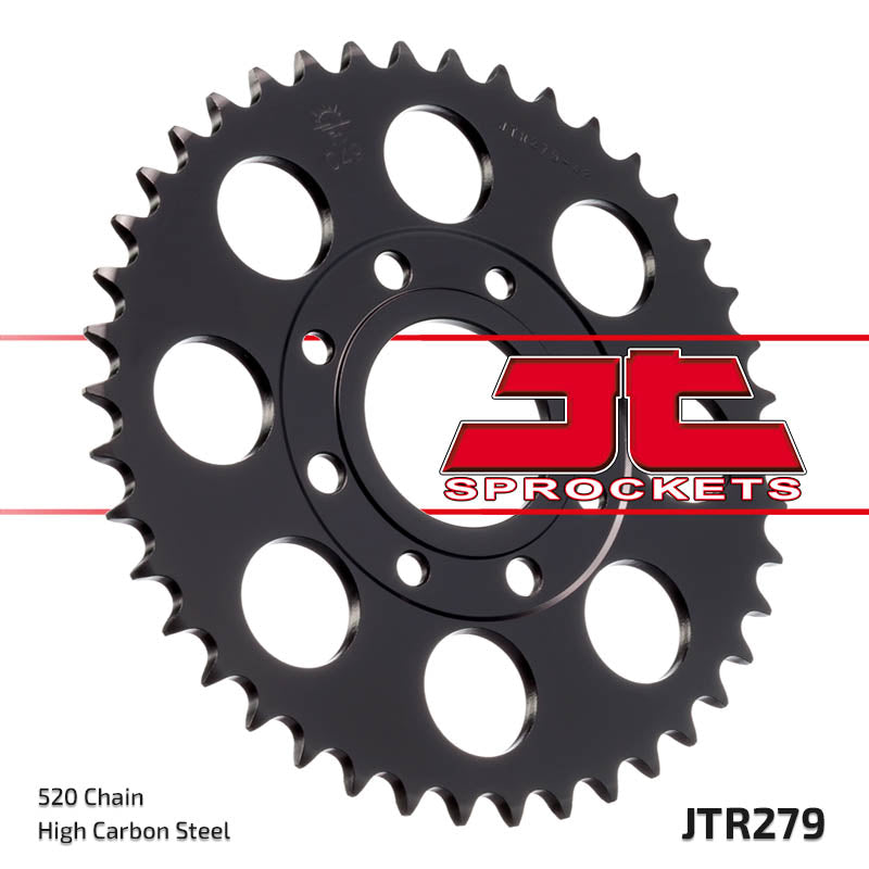 Rear Motorcycle Sprocket for Honda_CB250 Night Hawk_91-97, Honda_CB250 Night Hawk_99-08, Honda_CBX250 Night Hawk_87, Honda_CMX250 Rebel_87-present, Honda_NS125 FG FH_85-88, Honda_NS125 RK (NSR125)_88-89