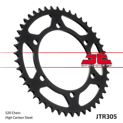 JTR305 Black Edition Induction Hardened ZBK Motorcycle Sprocket 46 Teeth (JTR 305.46)