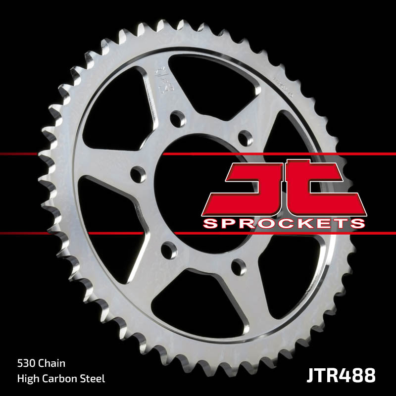 Rear Motorcycle Sprocket for Kawasaki_Z500 B3 (6 Speed)_81, Kawasaki_Z650 SR D2-D3_79-80, Kawasaki_ZR400 A1 B1 (Z400F)_83-85