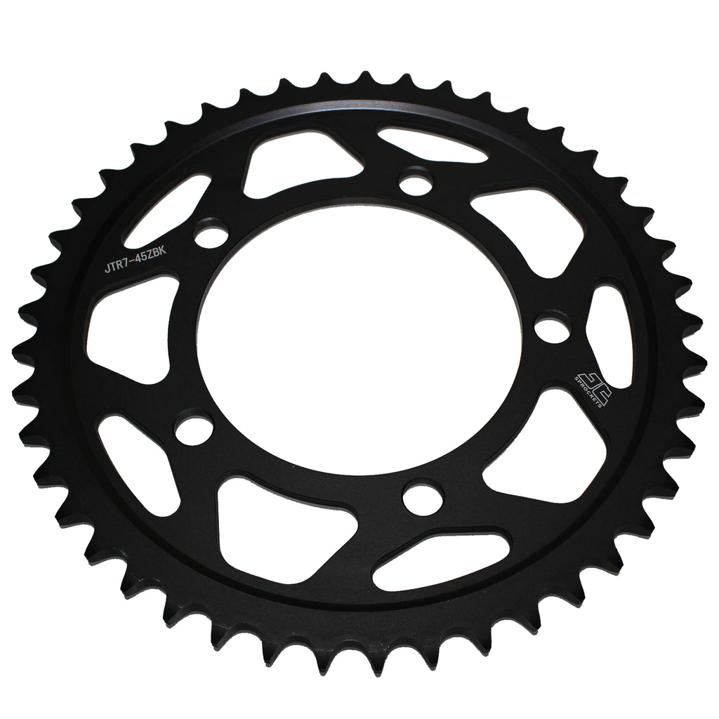 JTR7 Black Edition Induction Hardened ZBK Motorcycle Sprocket 45 Teeth (JTR 7.45)