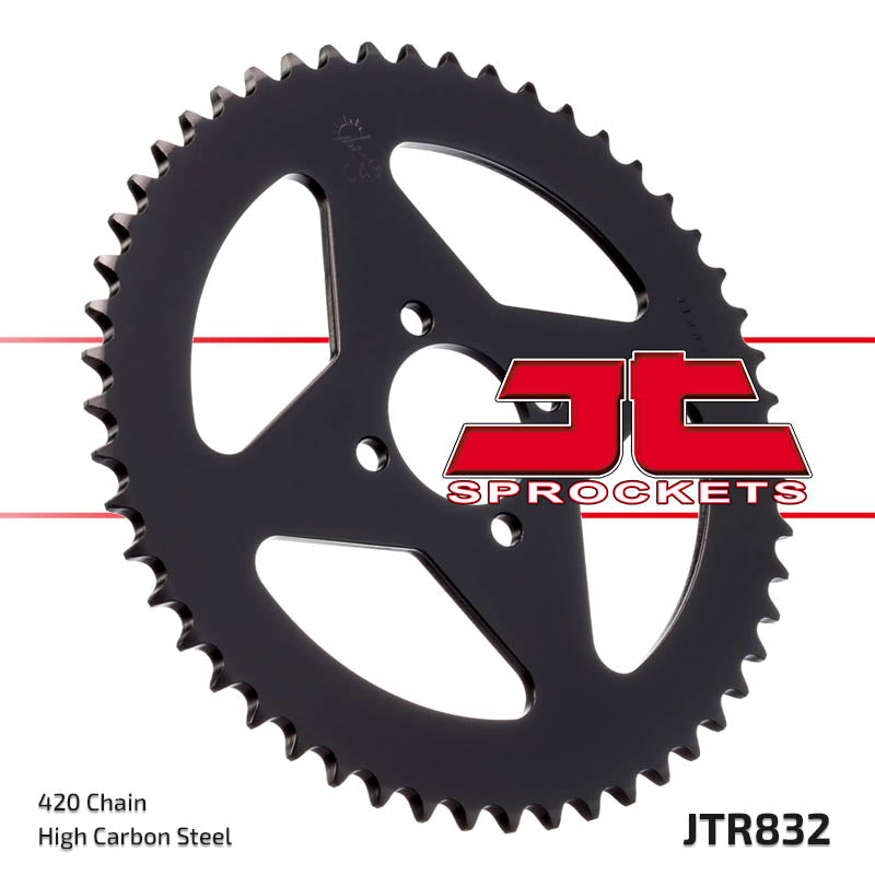 Rear Motorcycle Sprocket for Yamaha_DT50 MX-S_88-95, Yamaha_DT50 MX_81-87, Yamaha_RD50 M Spoke Wheel_78, Yamaha_RD50_77-78