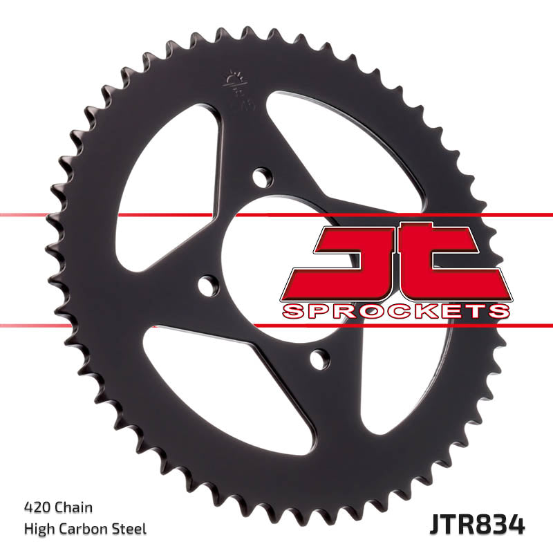 Rear Motorcycle Sprocket for Yamaha_RD50 M Alloy Wheel_79-80, Yamaha_RD50 MX_79-80, Yamaha_RD50 MX_81-87, Yamaha_RD80 LC 1_82, Yamaha_RT100_90-00, Yamaha_RZ50_