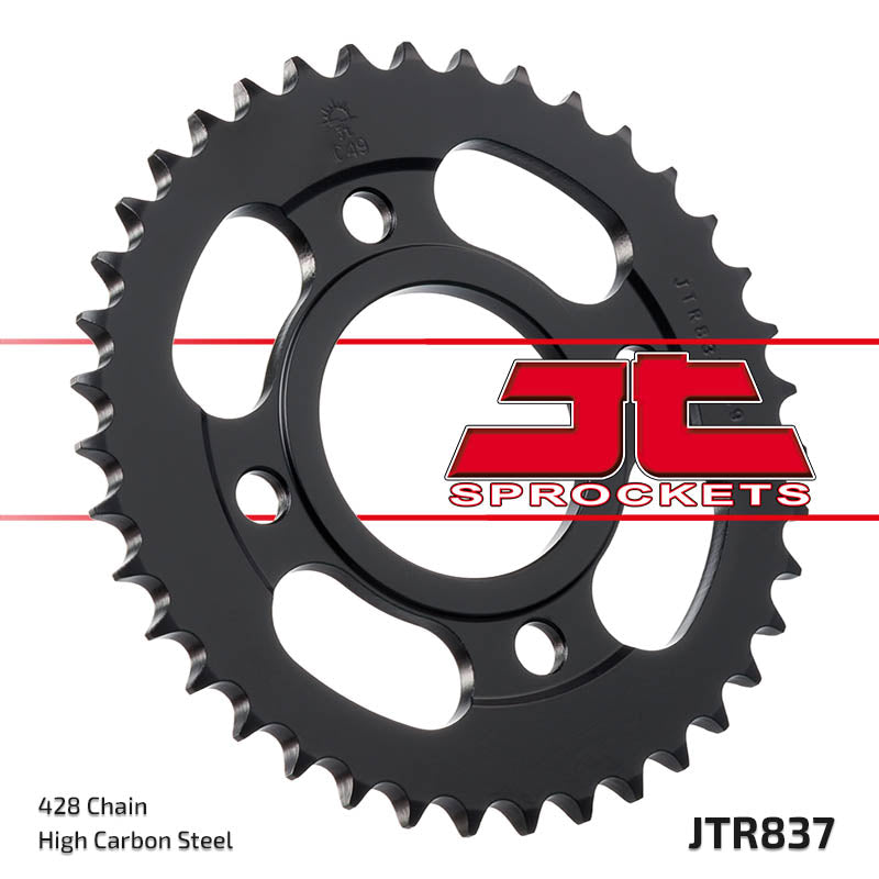 Rear Motorcycle Sprocket for Yamaha_RD125 DX Alloy Wheel_78-81, Yamaha_RD125 DX Spoke Wheel_75-77, Yamaha_RD200 DX Alloy Wheel_78-81