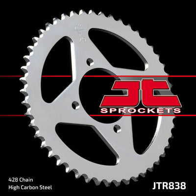 Rear Motorcycle Sprocket for Yamaha_DT100_76-80, Yamaha_YBA125 Enticer_07-09, Yamaha_YBR125_05-06, Yamaha_YBR125_07-12