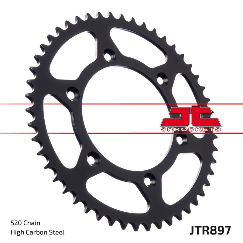 JTR897 Self Cleaning Rear Drive Motorcycle Sprocket 52 Teeth (JTR 897.52)