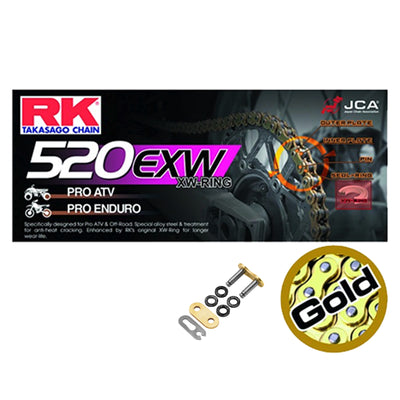KTM 450 SXF 2013-2018 RK 520 EXW Super Strong X-Ring Motocross / Enduro Racing Drive Chain Gold 520EXWGB 118
