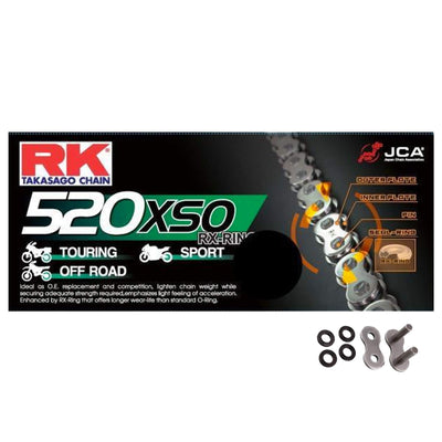 Kawasaki KX500 1986-2004 RK 520 HD RX-Ring Motorcycle Bike Chain 520 XSO 114 Links with Rivet Link