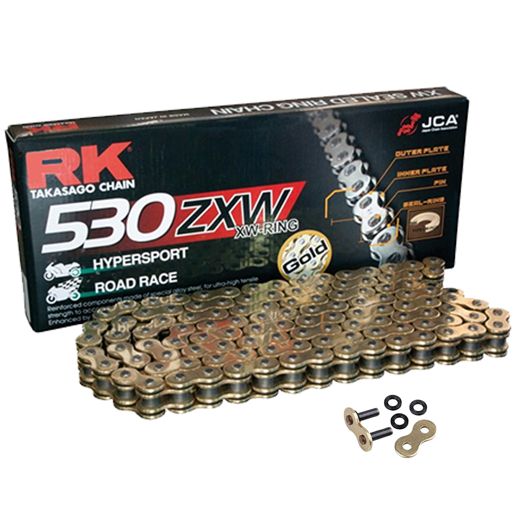 Honda CBR1000 Fireblade 2008-2016 RK 530 ZXW Gold 116 Link X-Ring Super Heavy Duty Motorcycle Chain