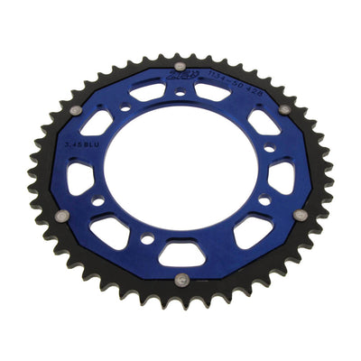 ZF Dual Combination Alloy/Steel Blue Rear Sprocket 53 Teeth (JTR839.53)