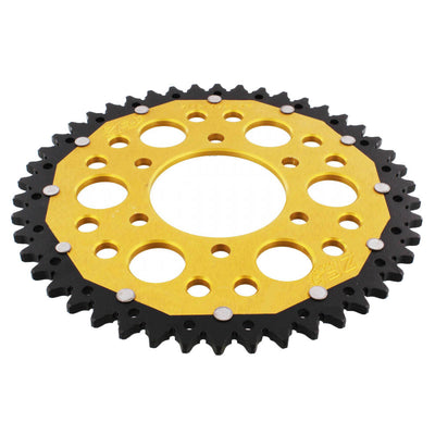 ZF Dual Combination Alloy/Steel Gold Rear Sprocket 44 Teeth (JTR1221.44)