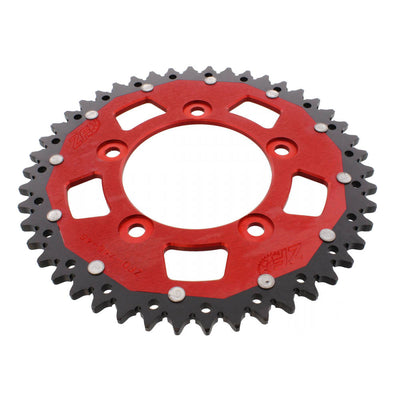 ZF Dual Combination Alloy/Steel Red Rear Sprocket 52 Teeth (JTR1131.52)
