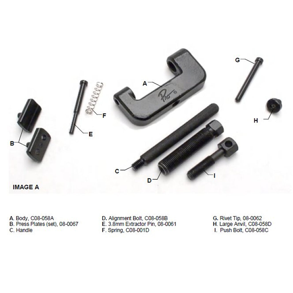 Motion Pro Chain Breaker, Press and Riveting Tool #520 #525 & #530