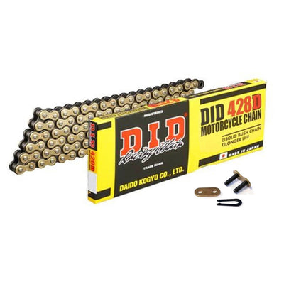 DID Gold Motorcycle Chain Standard 428 DGB 124 (RJ)