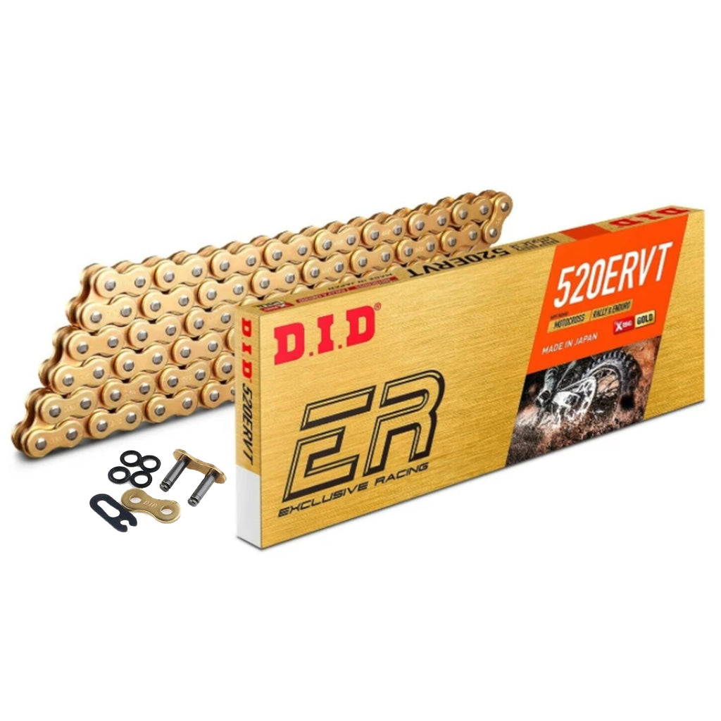 DID 520 ERVT X-Ring Motocross / Enduro Racing Drive Chain Gold 520ERVTGG 114 (ZJ)