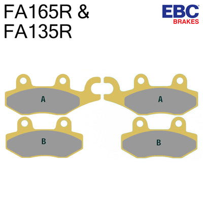 EBC Sintered Front Brake Pads FA135R & FA165R (Two Calipers)