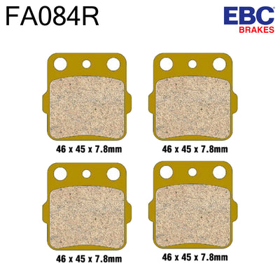 EBC Sintered Front Brake Pads FA084R (Two Calipers)