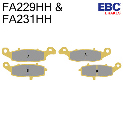 EBC Sintered Front Brake Pads FA229HH & FA231HH (Two Calipers)