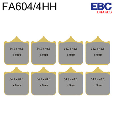 EBC HH Sintered Front Brake Pads FA640/4HH (Two Calipers)