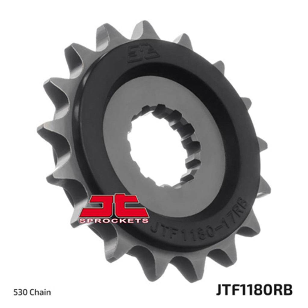 JTF1180 Rubber Cushioned Front Drive Motorcycle Sprocket 18 Teeth (JTF 1180.18)