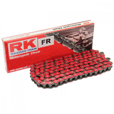 RK Red Motorcycle Chain Standard 420 SB 132