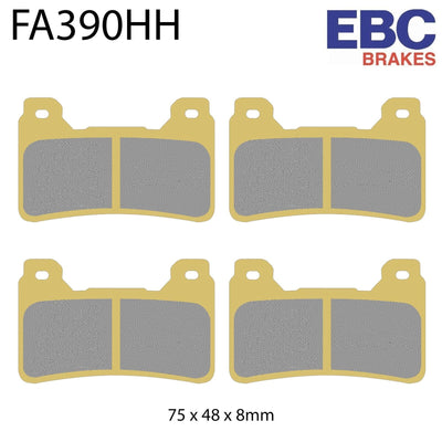 EBC HH Sintered Front Brake Pads FA390HH (Two Calipers)