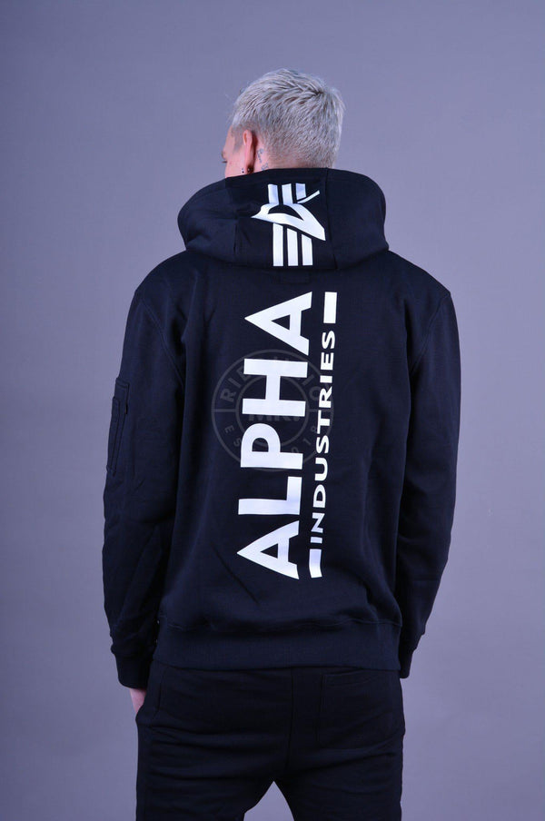 Alpha Industries Back Print Hoody Black Hoodie Alpha Industries