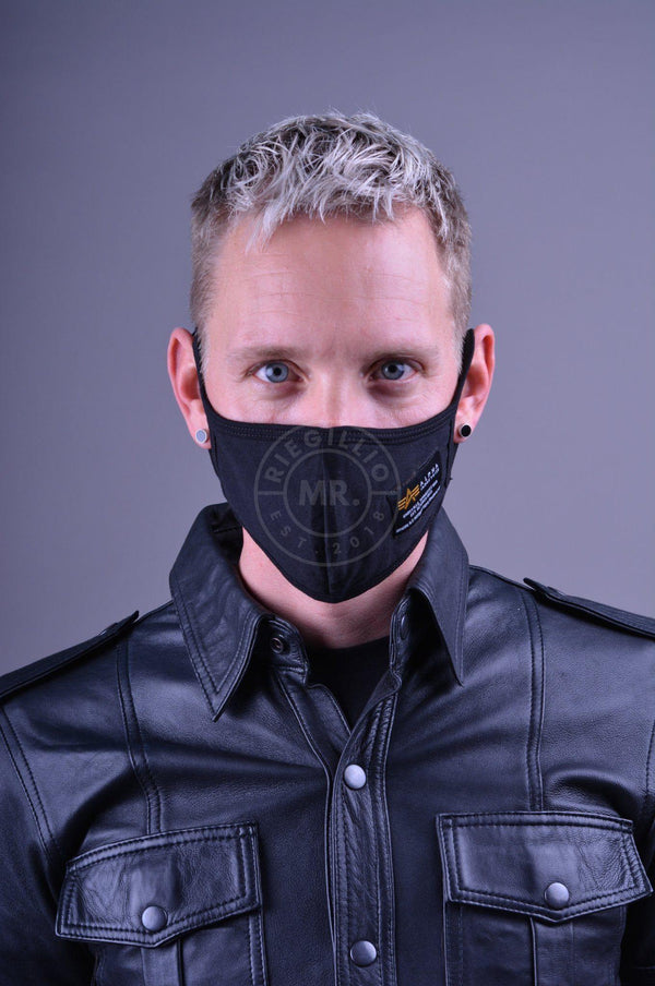 Alpha Industries Crew Facemask Black Face mask Mr Riegillio