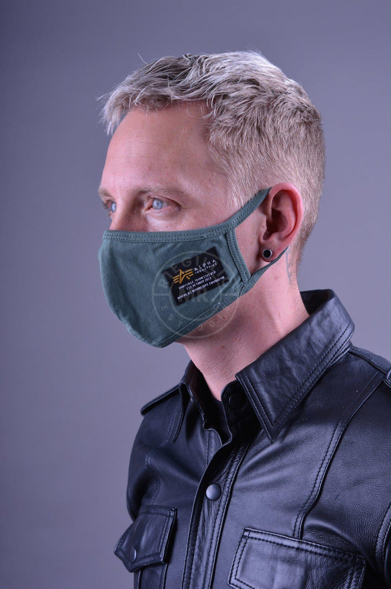 Alpha Industries Crew Facemask Dark Green Face mask Mr Riegillio