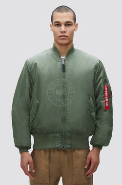 Alpha Industries Flight Jacket | MA-1 Sage Green Jacket Mr Riegillio