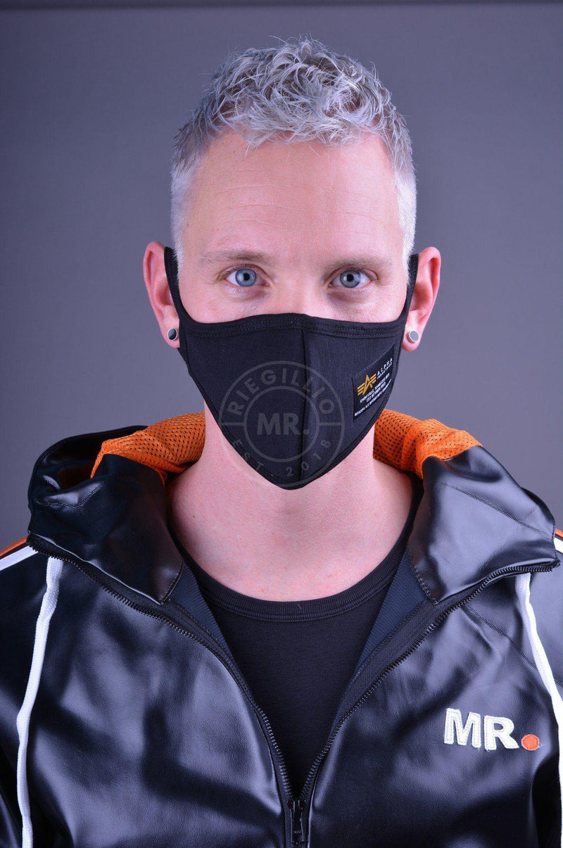 Alpha Industries Heavy Crew Face Mask - Black Face mask Mr Riegillio