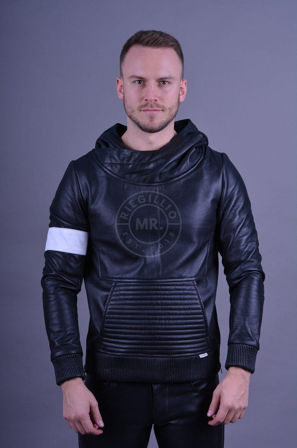 Leather Hoodie Black Hoodie Mr Riegillio