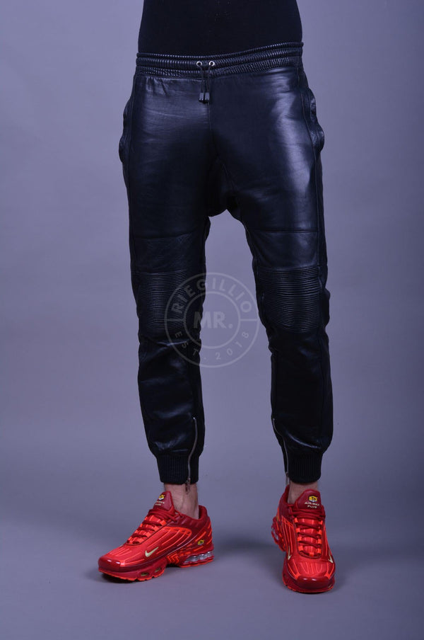 Leather Jogger Black Pants Mr Riegillio