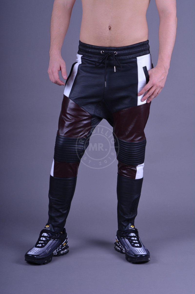 Leather Jogger Burgundy Pants Mr Riegillio