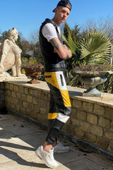 Leather Jogger Yellow Pants Mr Riegillio