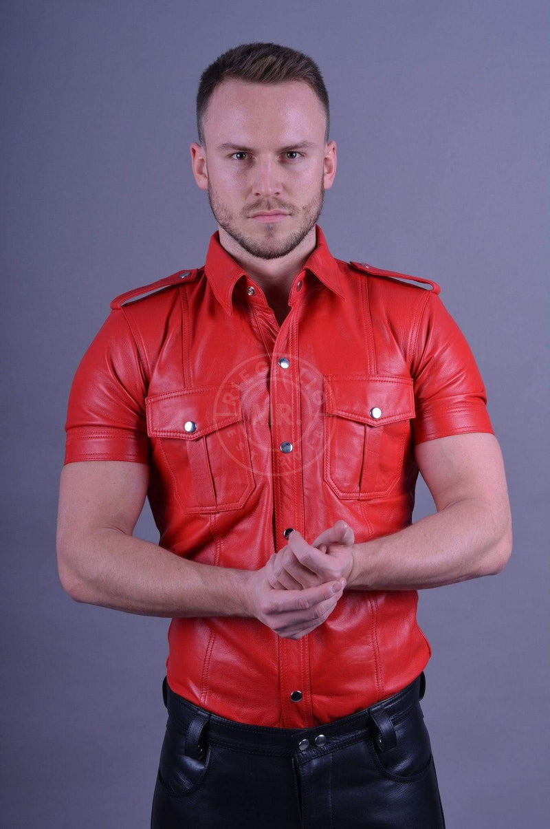 Leather Shirt Red leather shirt Mr Riegillio