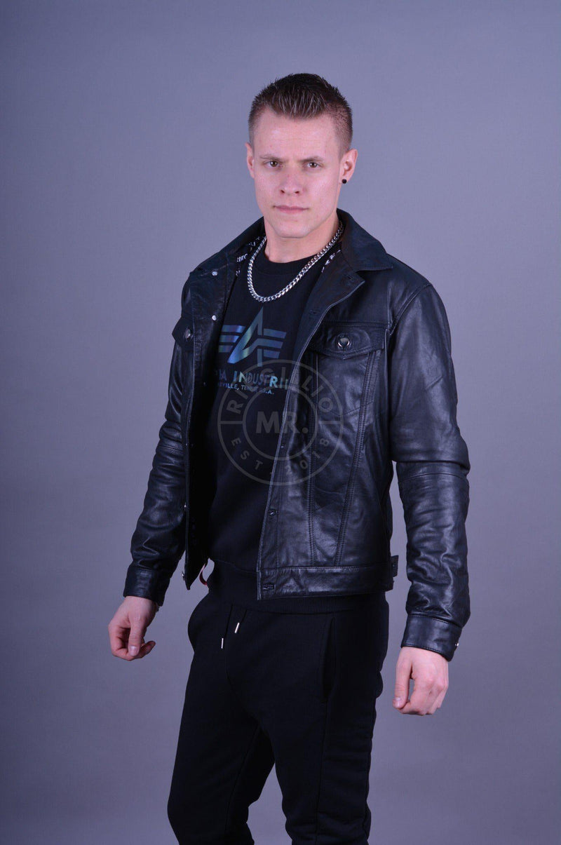 Leather Trucker Jacket Jacket Mr Riegillio